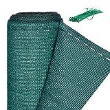 Relaxdays Zaunblende, Sichtschutz für Gartenzaun & Balkongeländer, HDPE Gewebe, UV-stabilisiert, wetterfest, 1x20m, grün