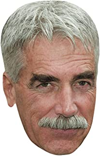 Sam Elliott (Moustache) Celebrity Mask, Flat Card Face, Fancy Dress Mask