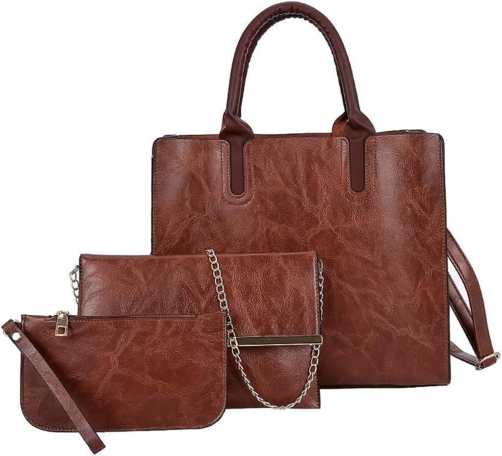 FEISI22✿ Handbags for Women Shoulder Bags Tote Satchel Hobo 3pcs Purse Set Handbag Purse Set Top Handle Tote Satchel