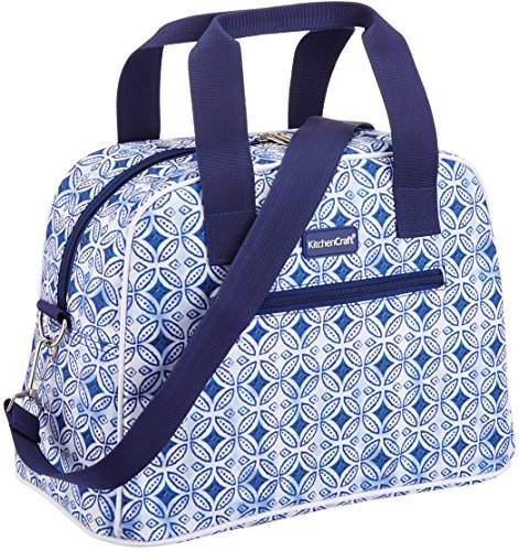 Kitchencraft We Love verano tile-patterned Hold all-style Cool bolsa, tela, azul, 15x 32x 25cm