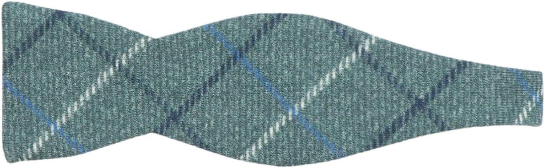 Edward Armah Men's Reversible Plaid and Herringbone Bowtie Bow Tie