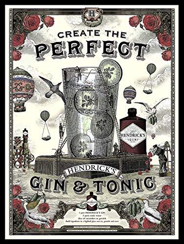 GORDON/'S LONDON DRY GIN Métal Tin Signe Affiche Plaque Murale