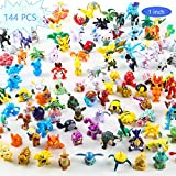 Stariver Store Toy Play Fun 144 pcs Heroes Action Figure -Toy PokemonSet Mini Action Figures -2-3 cm Kid's Gift Children Game