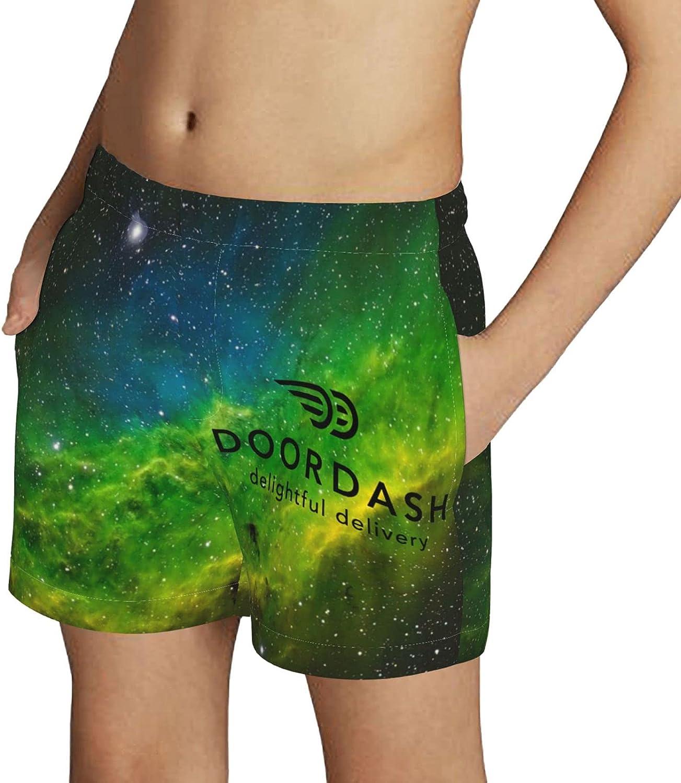 ZZHZMH Doordash Boys Swim Trunks Drawstring Beach Shorts Swimwear Boardshort with Pockets