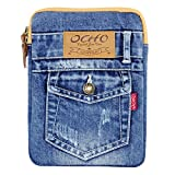 Universal Case for 7 8 inch Tablet Stone Washed Jean Denim Style Sleeve