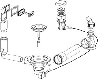 A partir de control de rebose y para fregadero Franke MYTHOS MTX 611/MTX 211/a partir de 2012/fregadero con cierre integral/fregadero/desagüe