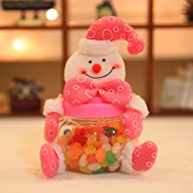 Yeahii Super Cute Christmas Plush Candy Box Candy Container Decorative Candy Jars Bottles Christmas Sweet Xmas Homen Decor...