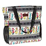 Original Floral Water Resistant Large Tote Bag Shoulder Bag for Gym Beach Travel Daily Bags Upgraded ([N] Pattern)