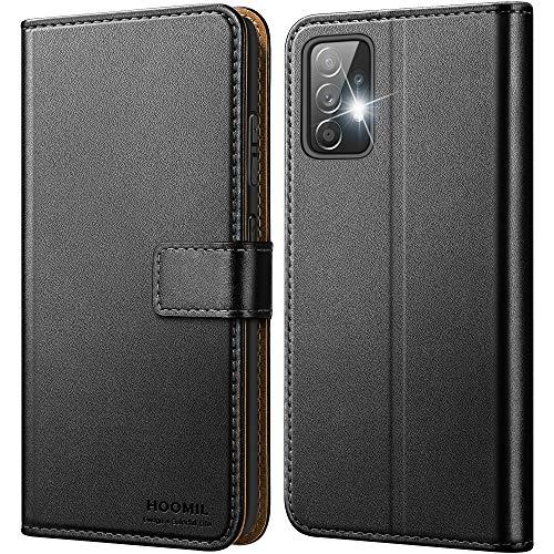 HOOMIL Samsung A52 Hülle, Handyhülle für Samsung Galaxy A52 Hülle Leder Tasche Flip Case Schutzhülle für Samsung A52 5G & 4G Hülle Schwarz