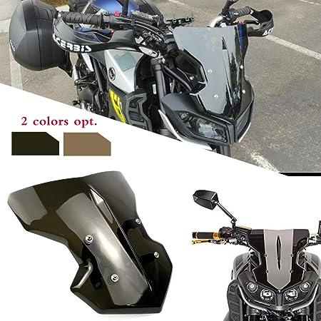 Lorababer Motorcycle Compatible With Yamaha Fz 09 Mt 09 Fz09 Mt09 Windscreen Windshield Fits Fz 09 Mt 09 2017 2018 2019 2020 Accessories Abs Plastics Smoke Amazon Co Uk Car Motorbike