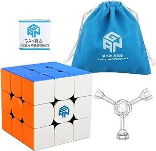 Coogam GAN 356R Speed Cube Gans 356 R 3x3 Stickerless Gan356 R 3x3x3 Speedcube GES V3 System Extra Blue Pouch