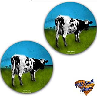 Set of Two Pink Floyd Atom Heart Mother #2 Slipmat 12 inch LP Scratch Pad Slip Mat Audiophile Vinyl Lovers