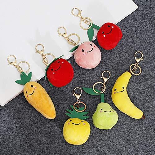 Catkoo Plüschtier, Niedliche Frucht Apple Plüsch Puppe Anhänger Schlüsselbund Schlüsselanhänger Halter Tasche Telefon Dekor, Hergestellt Aus US-natürlicher Baumwolle, Perfekte Erntedankfes Birne