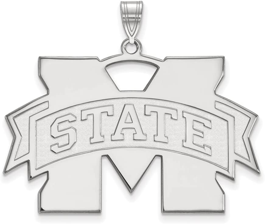 Mississippi State Ranking TOP9 Challenge the lowest price of Japan ☆ Extra Large 1 Inch Sterling Pendant Silver