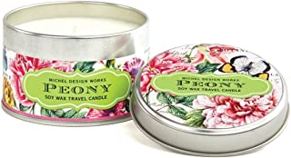 Michel Design Works Soy Wax Candle in Travel Tin Size, Peony