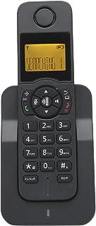 EBTOOLS Teléfono inalámbrico, 100-240 V, teléfono de Llamada Manos Libres Ampliable con Pantalla de identificación de Llamadas, Tono de Timbre/Auriculares/Volumen de Manos Libres Ajustable