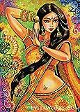 mlpnko DIY Pintar por números Danza del Vientre de Mujer India Pintura por números para Adultos Niños Principiantes DIY Pintura al óleo Kit con Pinceles y Pinturas