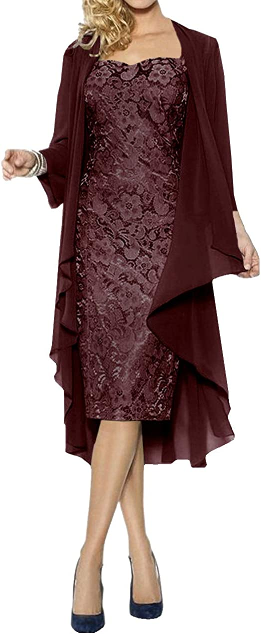 Lace Mother of The Bride Super-cheap Dress Cape Evening Chiffon Formal Gown Store