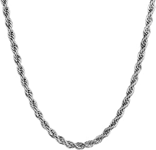 2-10mm Twist Chain Necklace Stainless Steel Necklace 16-38 Inches Men Women Jewellery