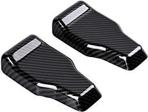 2pcs ABS Rear Upper Glass Door Liftgate Hinge Covers Tailgate Hinge Trim Compatible with Wrangler 2018 2019 (Carbon Fiber Painted)