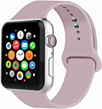 IYOU Sport Band Compatible with Watch Band 38MM 42MM 40MM 44MM, Soft Silicone Replacement Sport Strap Compatible with 2019 Watch Series 5 2018 Watch Series 4/3/2/1