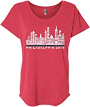 Philadelphia Fans Shirts Philadephia 2018 Skyline Players Tri-Blend T-Shirt
