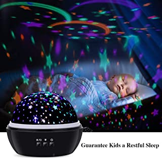 TekHome Baby Toys 12-18 Months, Baby Toys for 4 5 6 7 8 Year Old Boys, 1 2 3 Year Old Baby Girl Nurse Gifts, Star Projection Projector Night Light for Kids, First Time New Mom Gifts, Black.