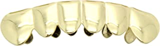 Gold-Tone Hip Hop Bling Removeable Bottom Mouth Grillz Grill