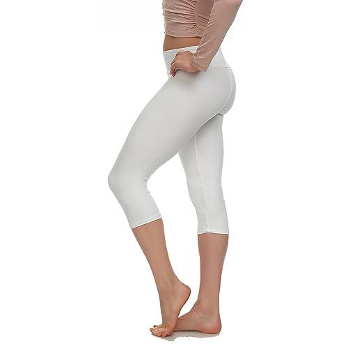 f7035d4385fa9f Extra Soft Capri Leggings with High Yoga Wast - 20 Colors - Plus