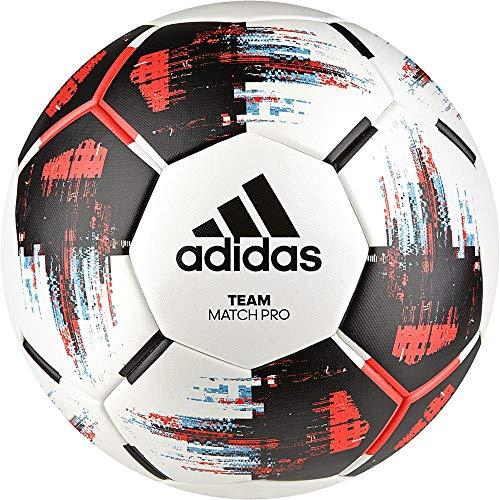 adidas Jungen Team Match Ball Turnierbälle für Fußball, White/Black/solar red/Bright Cyan, 5