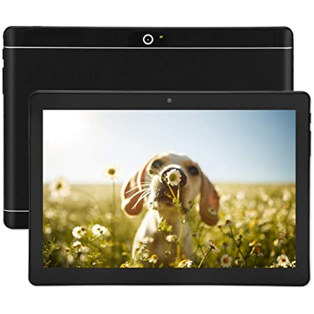 Android Tablet 10 Inch, Google Android 8.0 Unlocked Tablet PC with Dual SIM Card Slots, 3G Phone Support, Octa Core Processor, 64GB, 2MP+8MP Dual Camera, WiFi, Bluetooth, GPS (Black)