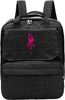 Figure Skating Girl Men's Travel Backpack Adjustable Shoulders Bags For Hiking