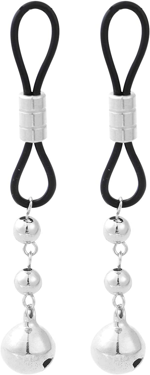 Aislor Non Piercing Nipple Body Jewelry,Nipple Chain Noose With bells Design Faux Dangle Nipple