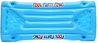 Candybush Inflatable Beer Pong Float Table Swimming Pool Raft Lounge PVC Floating Raft with 24 Cup Holders for Pool Party Game