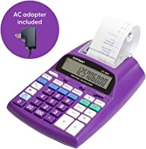 $42 » Catiga 12-Digit Desktop Commercial Printing Calculator with Tax Functions, Two Color,2.03 Lines/sec, with AC Adapter, CP-1800 for Home/Office, Comes with AC Guaranteed (Purple, with AC)