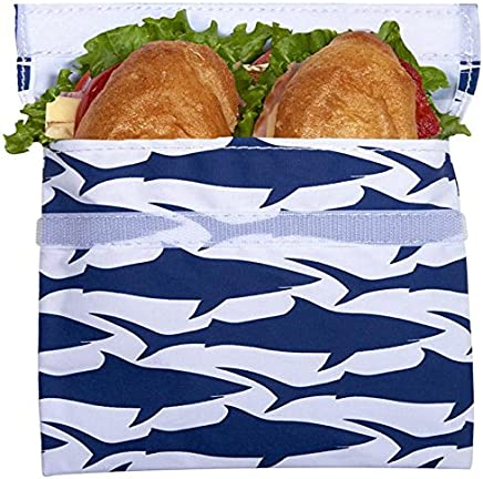 Lunchskins Reusable Quart Bag Quart Bag Quart Bag Navy Shark