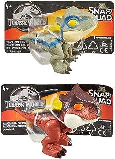 Mattel GKX72 Jurassic World snap-dins, 11 x 5 cm, blandade färger/modeller