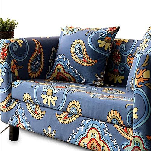 Housse de canapé extensible doux Impreso funda de sofá for en forma de L 1 2 3 4 Seater Couch, Spandex Stretch Fit con correa elástica Sofá Cover fácil de llevar Antiarrugas cubreobjetos Couch perro C