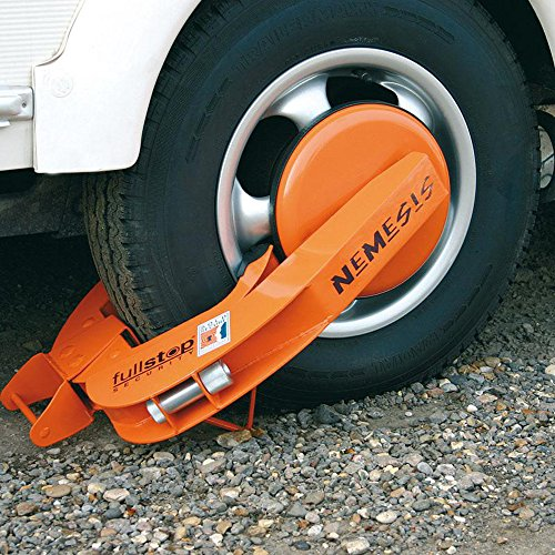 Professional Tyre Claws for Bikes with Max Tyre Width of 235 mm, Maximum 72 cm Diameter, with Lock, Orange