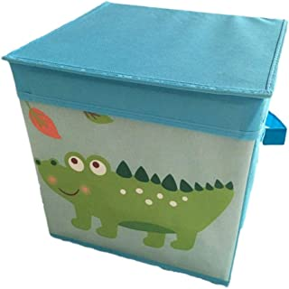 AQGELSNX Boîte de Rangement en Tissu de Rangement Pliable en Tissu Non tissé @ Alligator Bleu