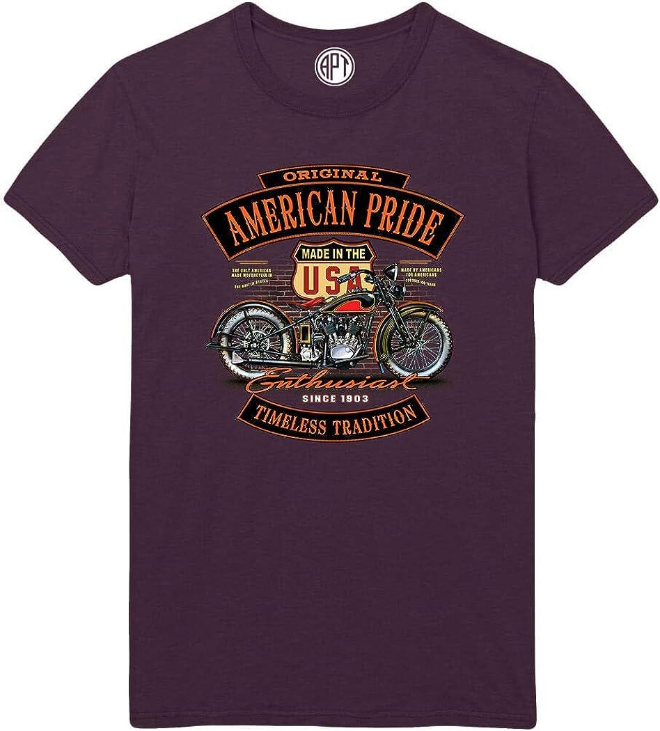 Motorcycle Enthusiast American Pride Printed T-Shirt