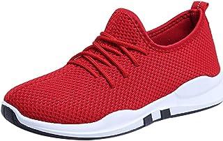 VECDY Zapatos Mujer Cuña,2020 Moda Zapatillas Mujeres Corriendo Zapatillas De Deporte Con Cordones Planos Cómodos Gimnasio...