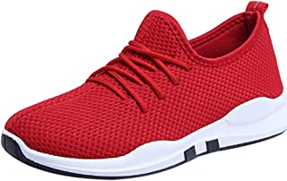 Clearance Womens Jogging Sneakers,Realdo Women Lightweight Running Trainers Lace Up Flat Comfy Fitness Shoes