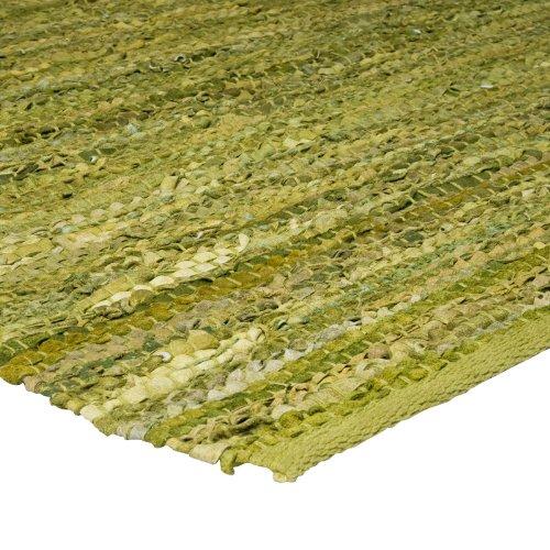MonBeauTapis 555861 tapijt, leer, 85 x 55 cm 85x55x5 cm Groen