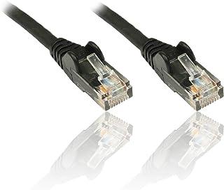 PremiumCord Netzwerkkabel, Ethernet, LAN & Patch Kabel CAT5e, UTP, Schnell flexibel & Robust RJ45 Kabel 1Gbit/S, AWG 26/7, Kupferkabel 100% Cu, Schwarz, 7m