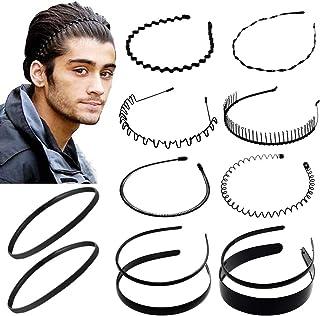 12 pezzi in metallo multi-stile cerchio per capelli fascia in plastica pettine flessibile fascia per capelli fasce sportiv...