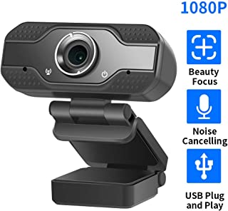 Hiseeu Webcam1080P Full HD USB Camera for Computers PC Laptop Desktop Built-in Microphone for Skype, Video Calling,Conferencing, Recording, Streaming