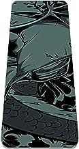 Yoga Mat Antislip TPE schedel donker patroon Hoge dichtheid vulling om pijnlijke knieën te voorkomen, Perfect voor yoga, p...