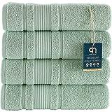 Qute Home 4-Piece Bath Towels Set, 100% Turkish Cotton...