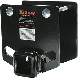 HiTow Drop-Down Bumper 2 inch Receiver Adapter for 4x4 inch Bumper Trailer Towing Cargo Carrier Bike Racks